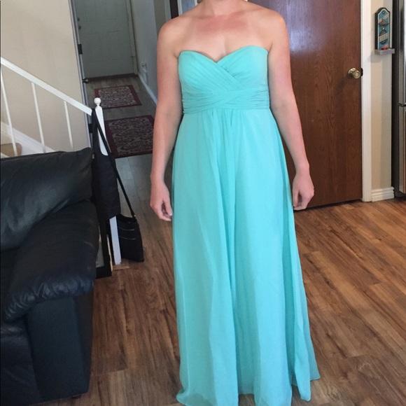 Bella Esprit Dresses | Mint Strapless Bridesmaid Dress | Poshmark